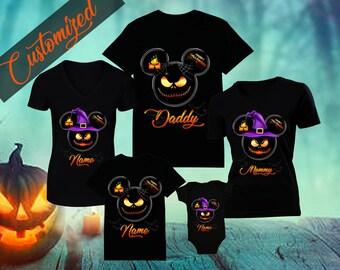 cf56d2d6 Halloween Disney Family Shirt Disney Family Shirts Mickeys Halloween Party  Custom Disney Halloween Shirts Customized Name