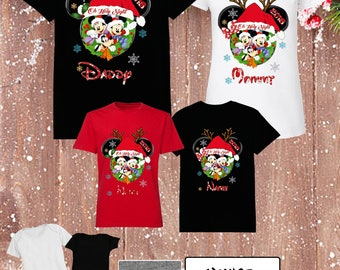 ba918a103d24 Disney Christmas Family Shirts Disney Christmas Shirts Mickey and Minnie  Christmas Family Shirts Family Christmas Vacation Xmas Tshirts