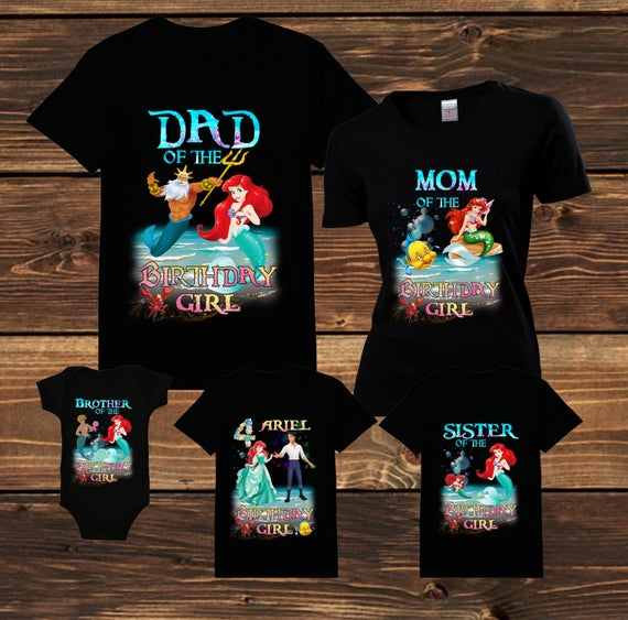 Family Birthday Shirt The Little Mermaid Ariel T