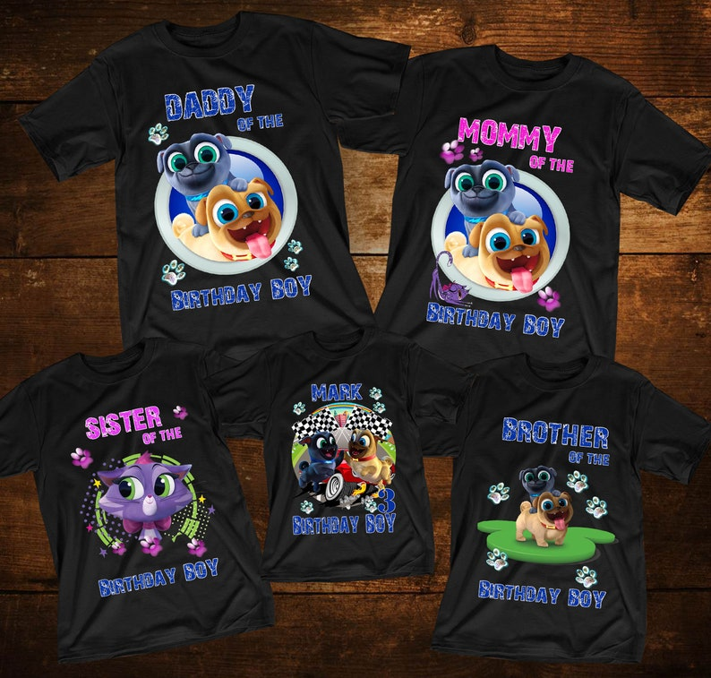 Puppy Dog Pals Birthday Shirts Customized Tshirt Disney