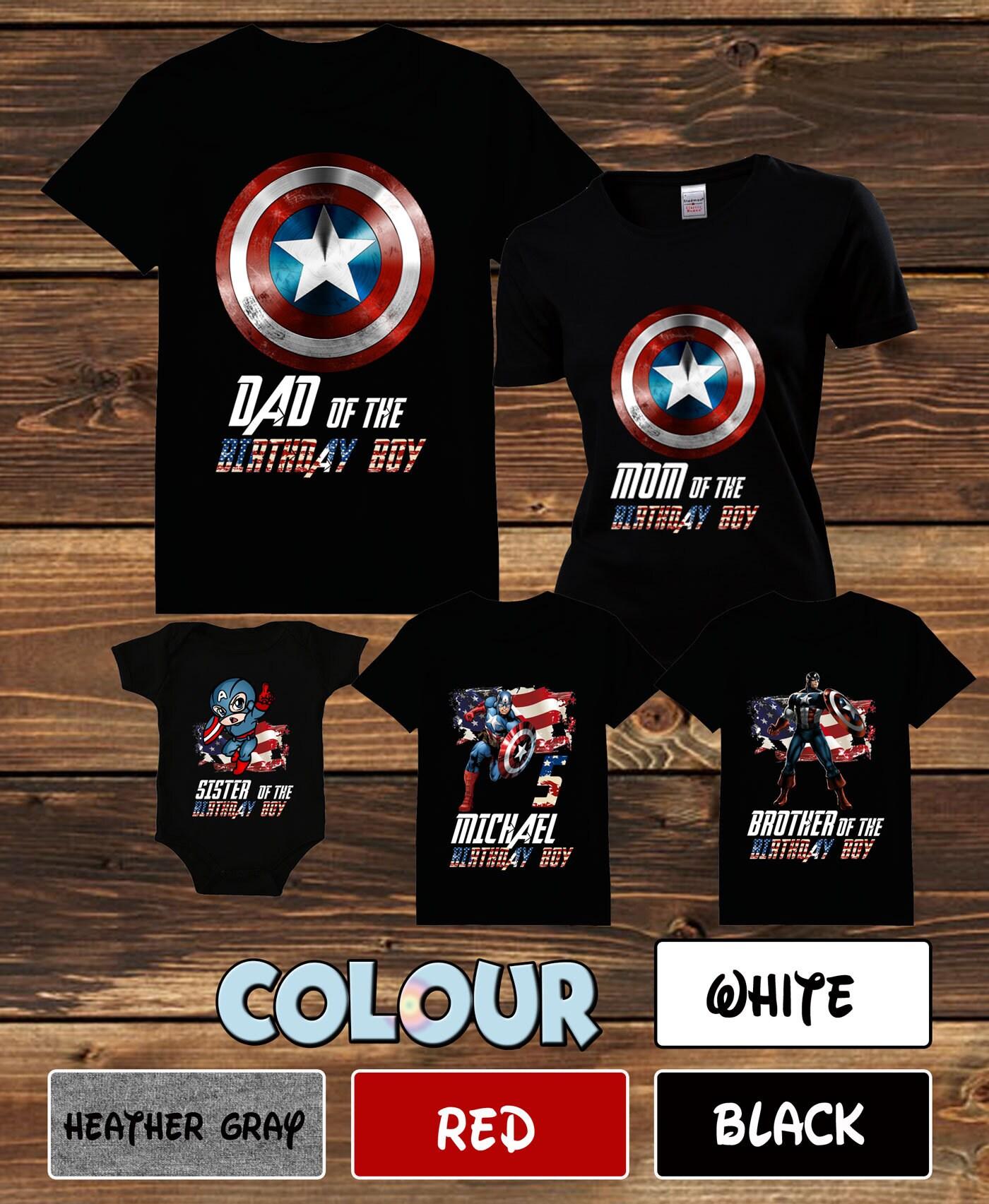 83baa52d Captain America Family T-shirt Captain America Birthday Family | Etsy