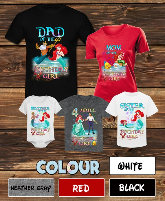 The Little Mermaid Family Birthday Shirt Ariel T