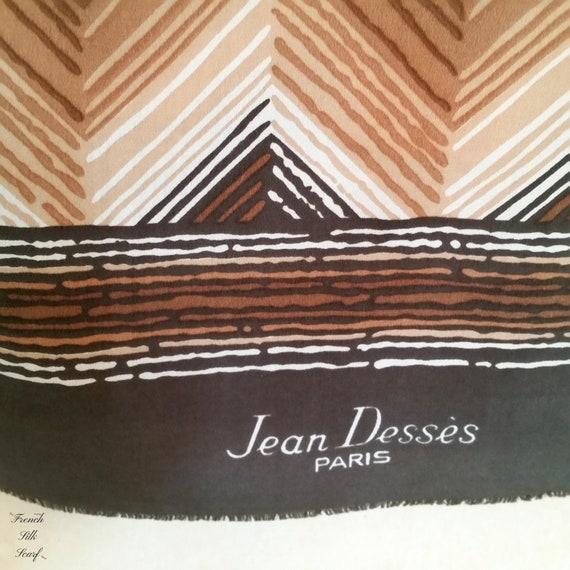 1960s JEAN DESSES DESIGNER French silk Scarf in bo