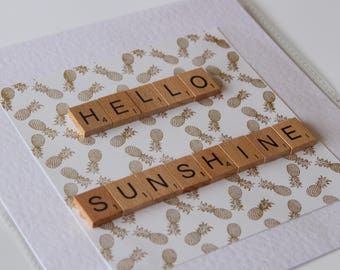 Hello Sunshine Scrabble art