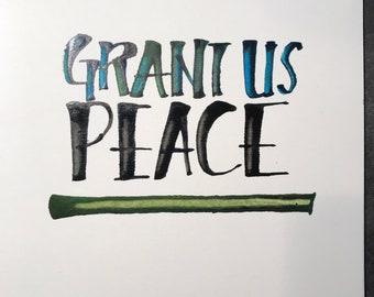 Grant us peace