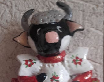 Cow dressed in salt dough