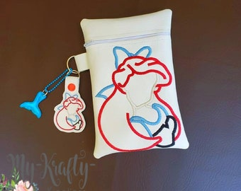 Custom Lilo /& Stitch Zipper Bag School Pencil and Crayon Holder Ladies Bag Fish Extender Gift FE Gift With Stitch Key Fob