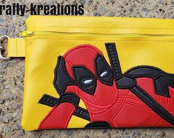 7e7ae79e6d3d Deadpool zipper bag | Etsy