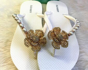 804729bf75fa Items similar to Country Wedding flip flops