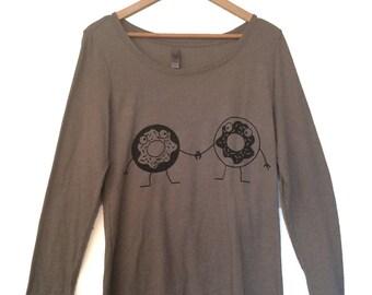 Women's Grey Donut Friends Shirt