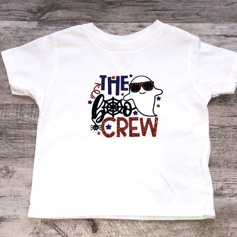 Halloween Shirt for Baby Toddler and Kid / The Boo Crew image 0