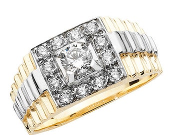 9ct Yellow Gold Cubic Zirconia Square Cluster Design Ring, sizes Q to Z (696)