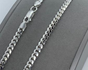 "Sterling Silver Cuban Curb 4.2mm Width Neck Chain 20"" / 50cm (1340)"
