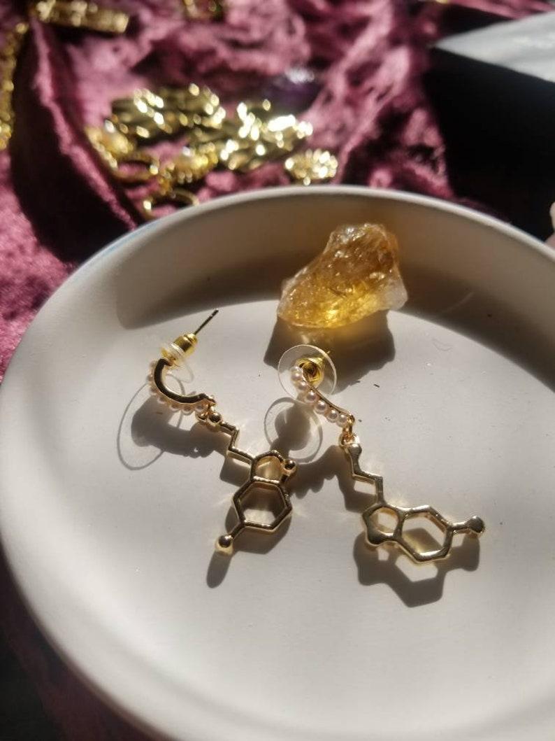 for Happiness and Energy SEROTONIN BUNDLE  ~  Serotonin Candle \u00d7 Earrings