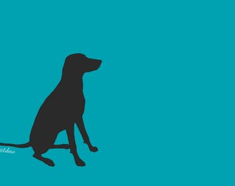 "Custom Dog Silhouette Print - 8x8"""