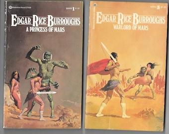 7 John Carter of Mars Books -Ballantine Books