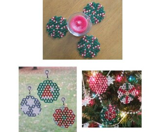 Crystal Ornaments - Beaded Doilies