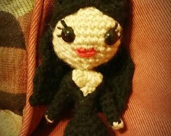 Elvira Crochet Doll Figure