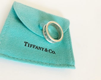 Vintage 925 Sterling Silver Tiffany & Co. 1837 Ring from 1997