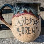 Custom Order for Jericho - 20oz Witches Brew Mug - Black Purple Witch Handmade Mug- Ceramics & Pottery - Clay Plant Road