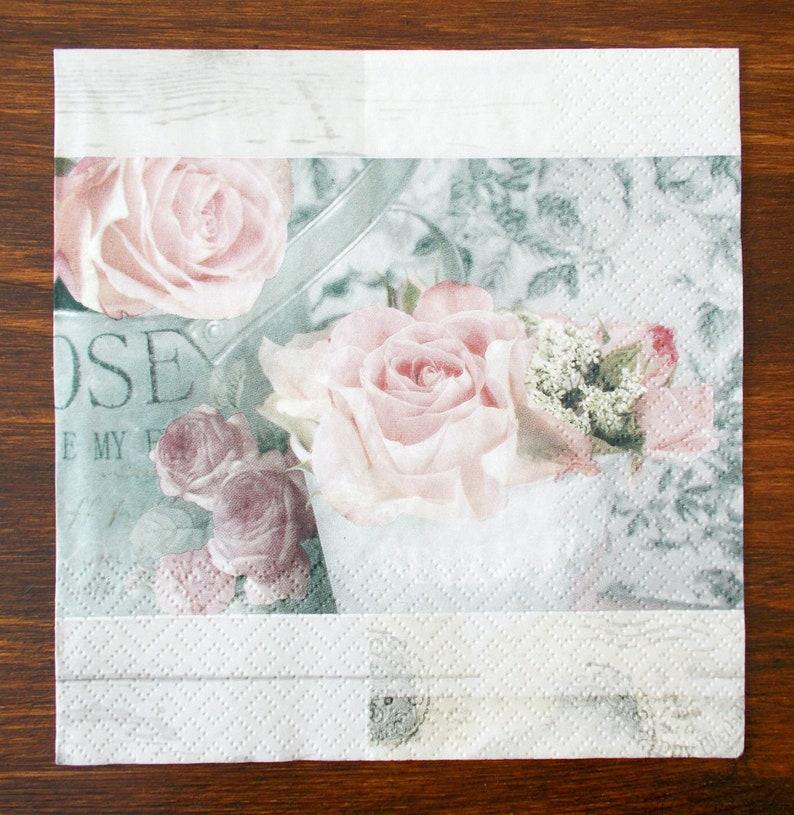 Set 4 paper napkins size 33cm x 33cm for Decoupage Design Scrapbooking Decor Creating collages