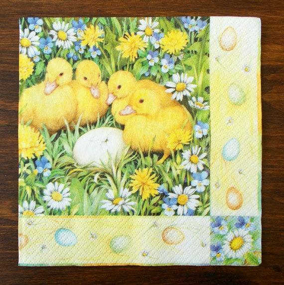 paper napkins decoupage x 2 ducks 33cm