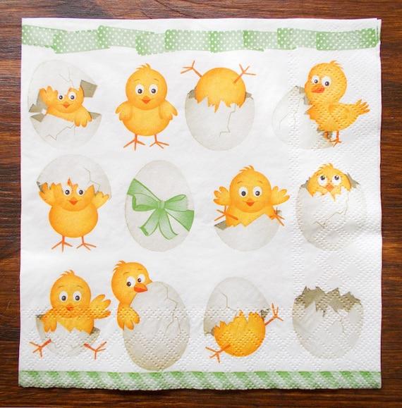 /Collage de P/âques /3/plis 4/serviettes en papier pour le d/écoupage/ 33/x 33/cm/