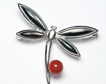 NOS Acrylic Cherry Brooch Whimsical Mid-Century Pins Select Your Favorite Brooch Store Stock Brights or Pastels Simple C Clasp Gift for Her