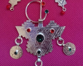 Earring and brooch pin silver pure + gift