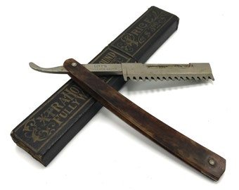 Litt's Antique Multi-Blade Straight Razor with Box Coffin – Vintage, Original, Cut Throat, Shaving, Shave, Blade, Victorian, Bathroom, Used
