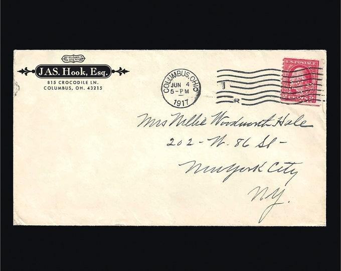 Featured listing image: Custom 'Prestige' Return Address Label or Rubber Stamp – Digital, Graphic, Envelope, Ornate, Edwardian, Elegant, Housewarming, Stylish, Gift