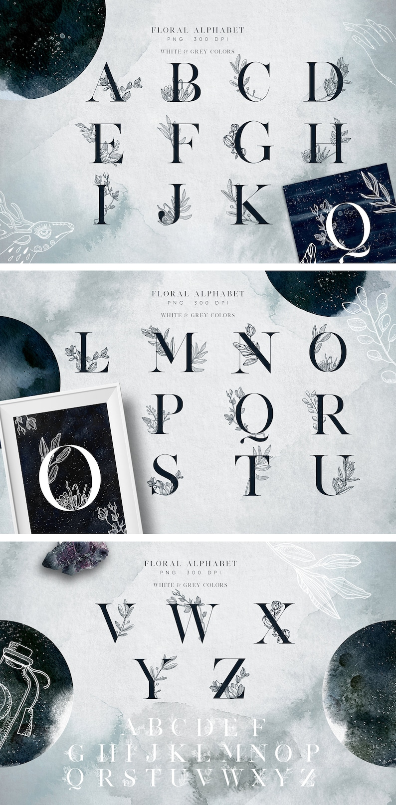 Lunare Alchemy Magic Mysterious Graphic Set Witchcraft collection Esoteric illustrations Digital watercolor clipart 180 elements