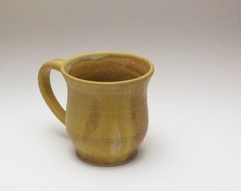 Butter Yellow vase shaped diner mug