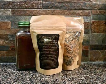 8 floz Organic Elderberry Syrup Kit