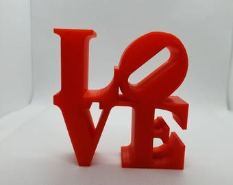3D printed LOVE| heart sculpture Valentine's Day love 3D Print 3D Printed valentine red love sculpture love you gifts for her 3D print favor
