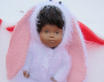 Clothes Sasha doll 12 inches Wonderful costume of the Easter Bunny White