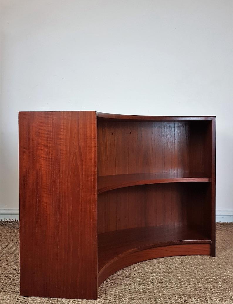 Vintage Mid Century Teak G Plan Danish Style Corner Tv Stand Bookcase Shelves
