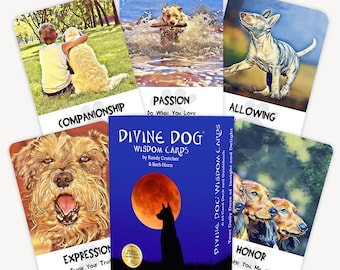 Divine Dog Wisdom Cards Oracle Deck -- NEW COVER