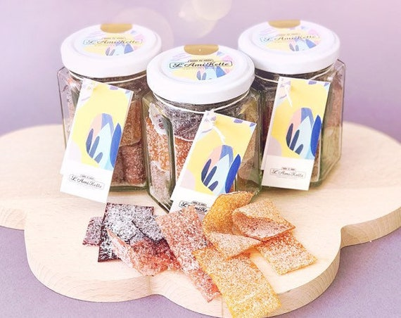 L'AmiKette mix, natural fruit sweets, pot mix of 3 seasonal tastes