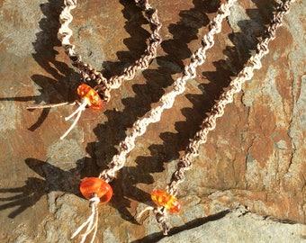 Hemp, macrame, handmade bracelets
