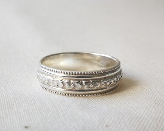VINTAGE WEDDING RING, Silver Ring, Celtic wedding ring, wedding rings set, wedding band set ,viking wedding band ring