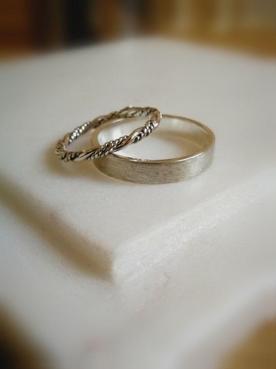 Wedding Ring Set Wedding Band Set Bridal Rings Set Viking Etsy