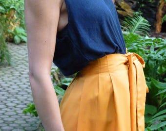 """Saffron yellow skirt """"INSPIRATION"""" handmade for women"""