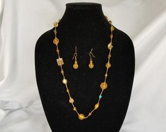 "Lia Sophia /""Ravish/"" Hematite Glass Beads Multi-Strand Necklace 36-39/"""