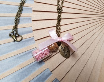 Baby Rose Mini Bottle Necklace for Best Friends