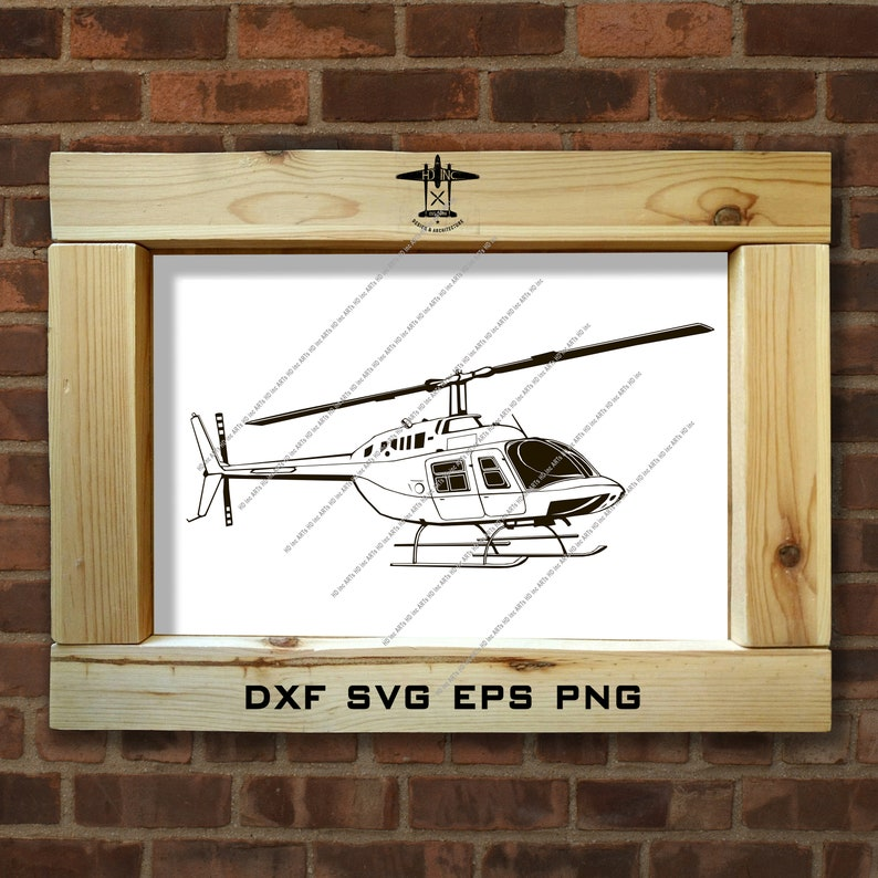 Bell 206 Jet Ranger  vector drawing helicopter  clip art  monogram  isolated  black color  logo  illustration