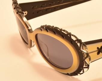 d1dc7e8595 Alain Mikli by Montana / oval shape / acetate frame / masterpiece design /  NOS / made in France / 90s / exsclusive / Vintage sunglasses