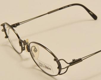 12ee0d21f2107 Jean Paul Gaultier 55-6104 oval shape   light metal frame   exclusive  design   pretty details   NOS   Made in Japan   Vintage eyeglasses