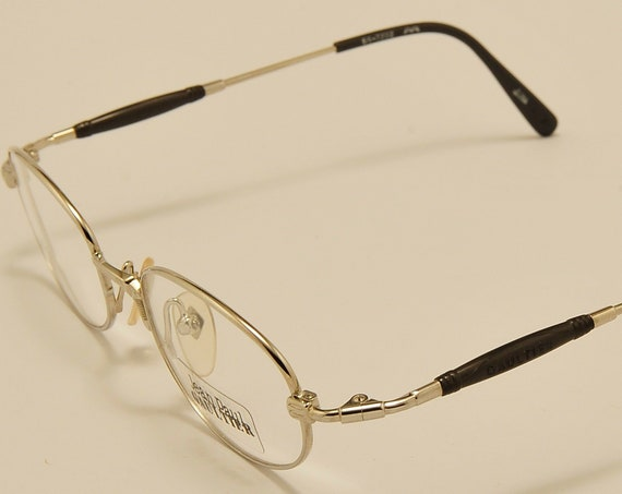 Jean Paul Gaultier 55-7202 oval shape / steel color frame / exclusive details / NOS / 90s / Made in Japan / Vintage eyeglasses