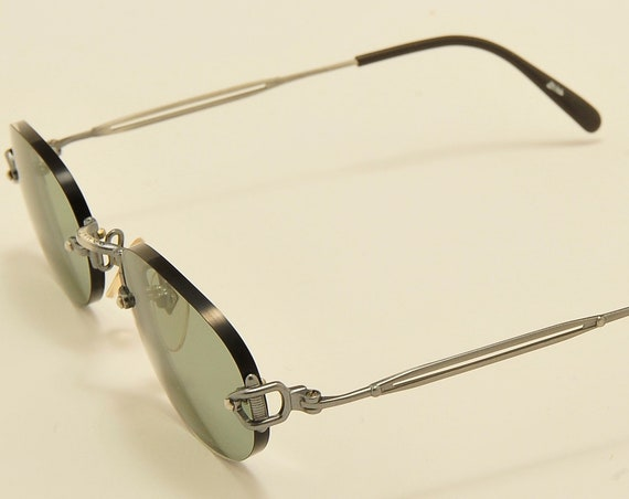 Jean Paul Gaultier 55-7110 oval shape / exclusive details / rimless / NOS / Made in Japan / new lenses / Vintage sunglasses